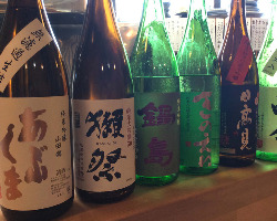 店主目利きの厳選された日本酒