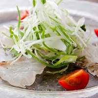 わさびとオリーブの絶妙なコラボを味わう真鯛の和風カルパッチョ