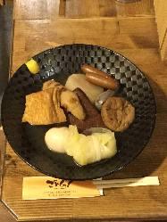 しっかりと味がしみ込んだおでん♪日本酒と一緒にいかが?