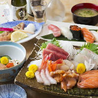 その日の旬な鮮魚を使った絶品お刺身や鮨を堪能『宴会コース』