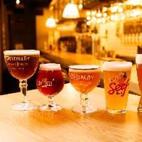 高品質!直送のベルギー、ドイツ、国産クラフトビールは圧巻の14タップ!