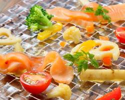 色とりどりの野菜など素材を活かした料理☆