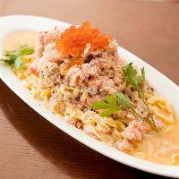 当店自慢の山盛りずわい蟹のペペロンチーノ!1日限定5食!