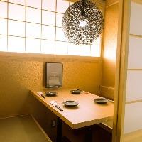 【完全個室】2~4名様まで可能です。接待・記念日・宴会に◎