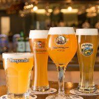 銘柄ごとの専用サーバーで注ぐ、ドイツより直輸入の樽生ビール
