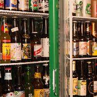 30種類以上の各国のボトルビールをご用意!