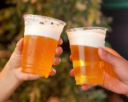 [ビアガーデン] お得な飲み放題をご用意!ビールで乾杯!