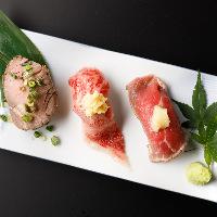 肉割烹ならではの数々の逸品肉料理を心ゆくまでお楽しみください