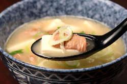 自家製もつ煮込み豆腐