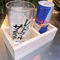 【レア】大人気レッドブルシリーズは升付きグラスで提供中!?