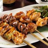 注文を受けて捌き、串を刺すので美味しさが違う!