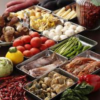 【厳選食材】 肉・魚介・野菜と旬の食材を厳選してご用意