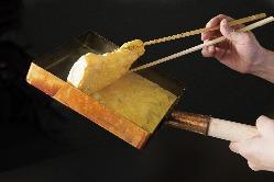 【だし巻き玉子】 秘伝の出汁とこだわりの卵で作る職人芸