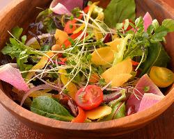 産直野菜をふんだんに使ったサラダです!