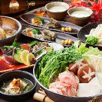 お刺身や地鶏料理などを堪能できるコース各種が500円オフ♪