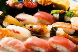 食べ放題は新鮮なねたを種類豊富にご用意しております