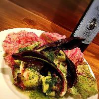 鮮魚とイタリア野菜のジェノベーゼサラダ