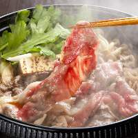 兵庫県原産『神戸和牛』を使用したすき焼きは絶品料理の逸品です