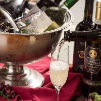 ワインやカクテルなど、ドリンクも種類豊富◎