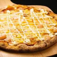 明太マヨポテトピザ! <明太子+ポテト+マヨネーズ>