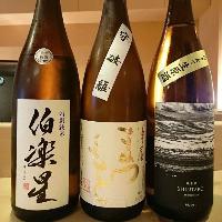日本酒にもこだわり、鮨との相性をお楽しみいただけます。
