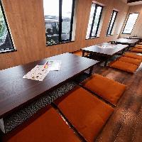 1階の掘り炬燵のお席は寛ぎの人気のお席です。
