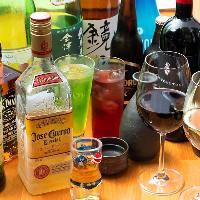 カクテル、ワインの他にも日本酒、焼酎も各種ご用意ございます!