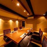 屋根裏部屋を改装した完全個室空間。神楽坂での接待やご結納に。