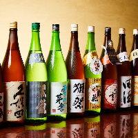 選りすぐり鮮魚の盛り合わせ!旨味たっぷり日本酒もすすみます♪