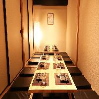 2名用個室はもちろん団体様用の「80~200名」個室もございます。