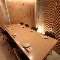 1室だけの特別個室は会社の宴会・接待におすすめ◎5〜10名様まで