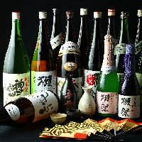 全国各種の銘柄焼酎、地酒多数ご用意しております!