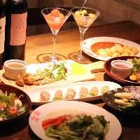 豊富な小皿料理は全品380円!!