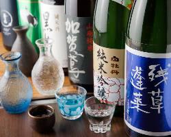 全国各地の日本酒、焼酎をご用意。