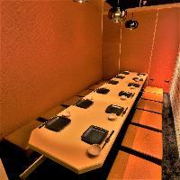 様々なお集まりに最適な個室は最大40名様までご案内できます。