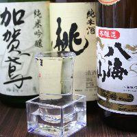 自慢の日本酒から、焼酎、ウィスキー、カクテルなど豊富にご用意