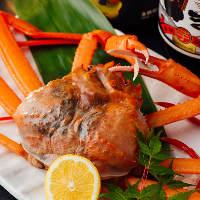 蟹が料理が多数ございます!!蟹しゃぶ、蟹ミソ、蟹ゆでなど♪