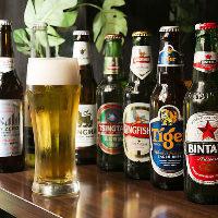 シンハーやコロナビールなど世界中からビールを取り寄せました!