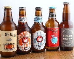 「ひたちのネスト」を中心に、日本の地ビールを取り揃え♪