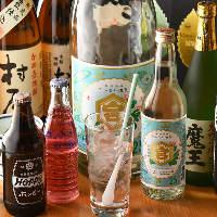 【お飲み物】 ビール・焼酎・地酒など60種類以上の豊富な品揃え