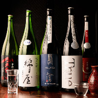 日本全国から取り寄せた日本酒や焼酎は約20種を常備!飲み比べ可