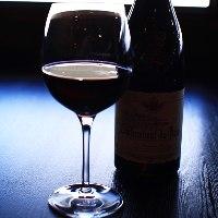ワインリストはフランス、イタリアなどのものを取り揃え。