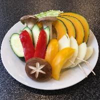 <焼野菜盛合せ> 新鮮な野菜は焼くと更に美味しくなります♪