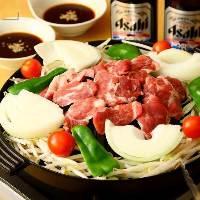 北海道直送の新鮮なラム肉を使用!
