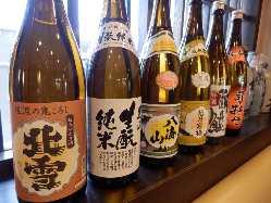 日本酒、焼酎などお酒も多数ご用意しております!
