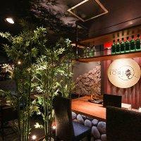 """日本庭園をモチーフにした""""和×洋""""のハイブリッド空間。"""