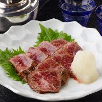 【一品料理】 お刺身や焼き魚などお酒のすすむ料理が目白押し