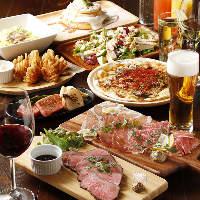 肉とお酒を満喫できる2.5H飲み放題付『肉コース』全5品3,500円