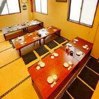 お座敷個室や掘りごたつ席などを完備したアットホームな空間