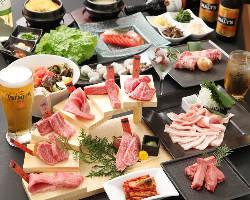 国産和牛がたっぷり味わえるコースは、2,680円(税抜)~